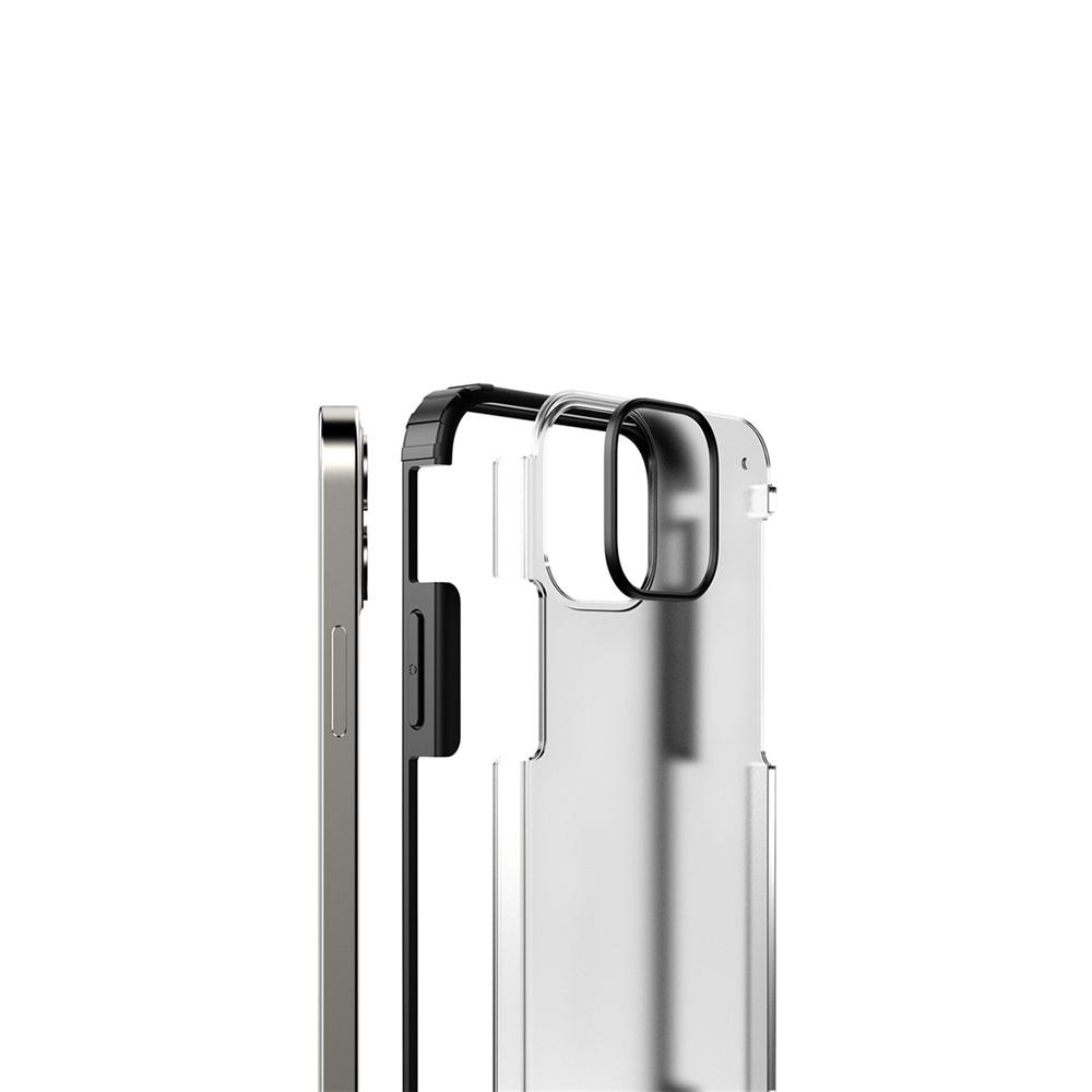 iPhone 12 Mini için spada Rugged Siyah kapak