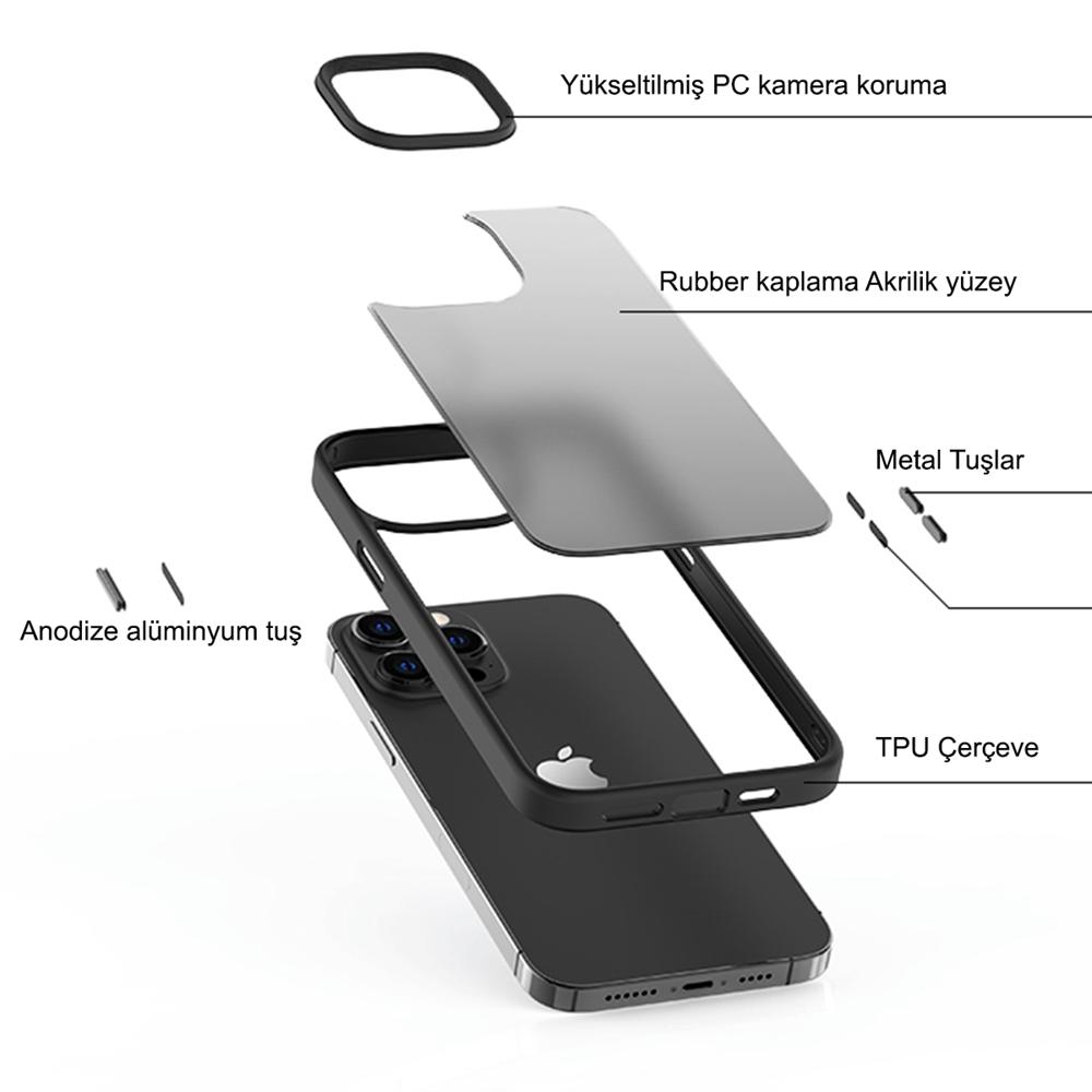 iPhone 13 için spada Panzer Lacivert Kapak