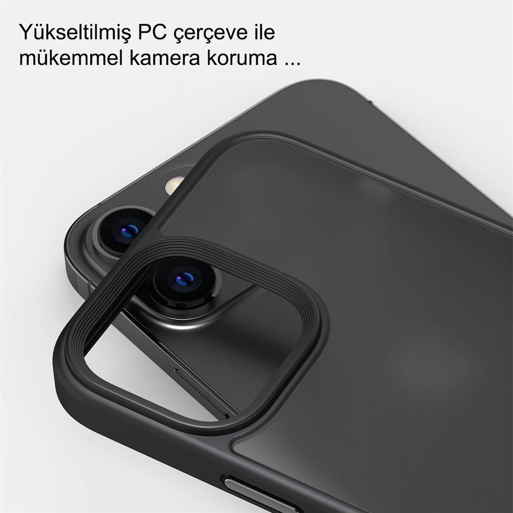 iPhone 13 Pro Max için spada Panzer Siyah kapak