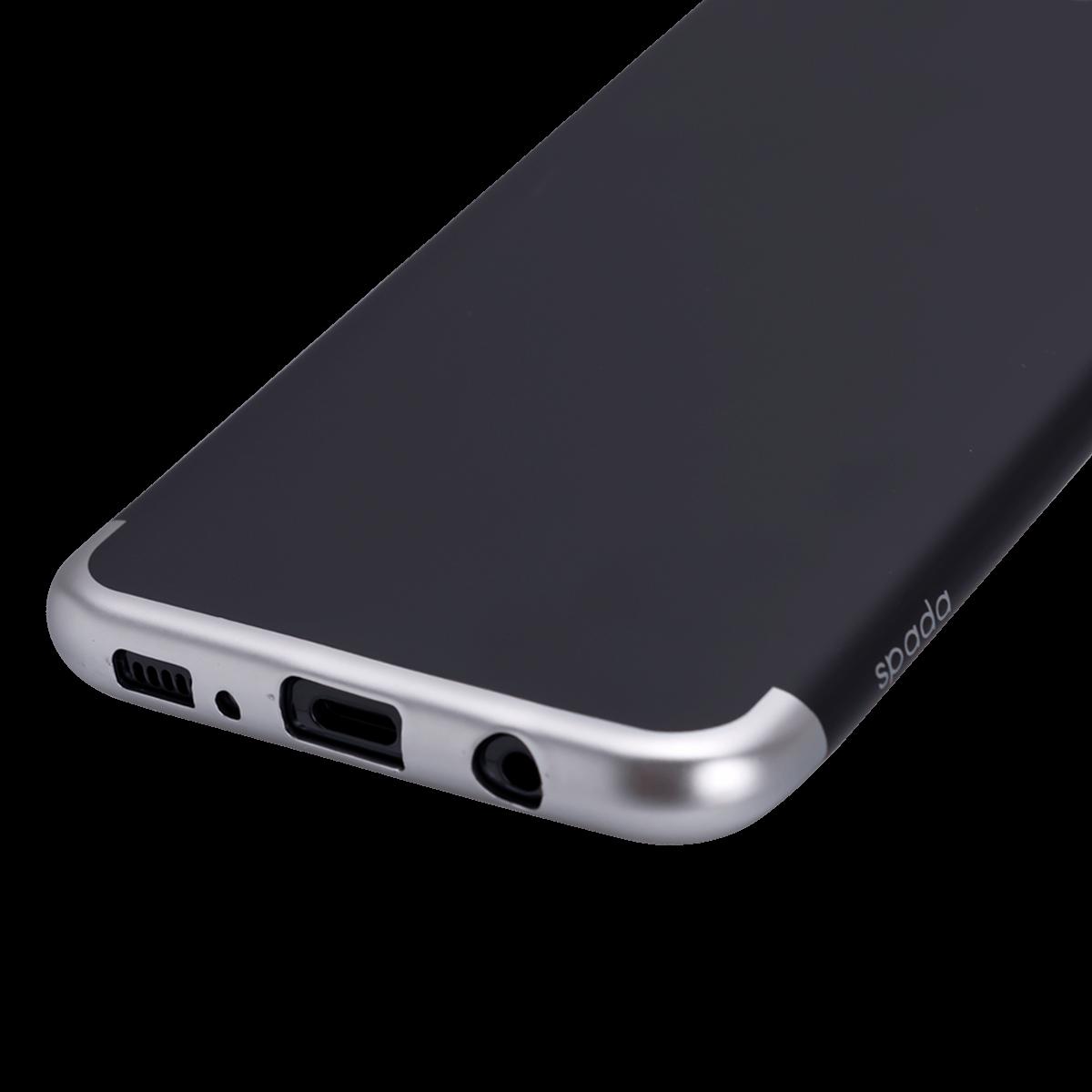 Samsung S8 için spada TRIO Siyah/Gümüş TPU Kapak