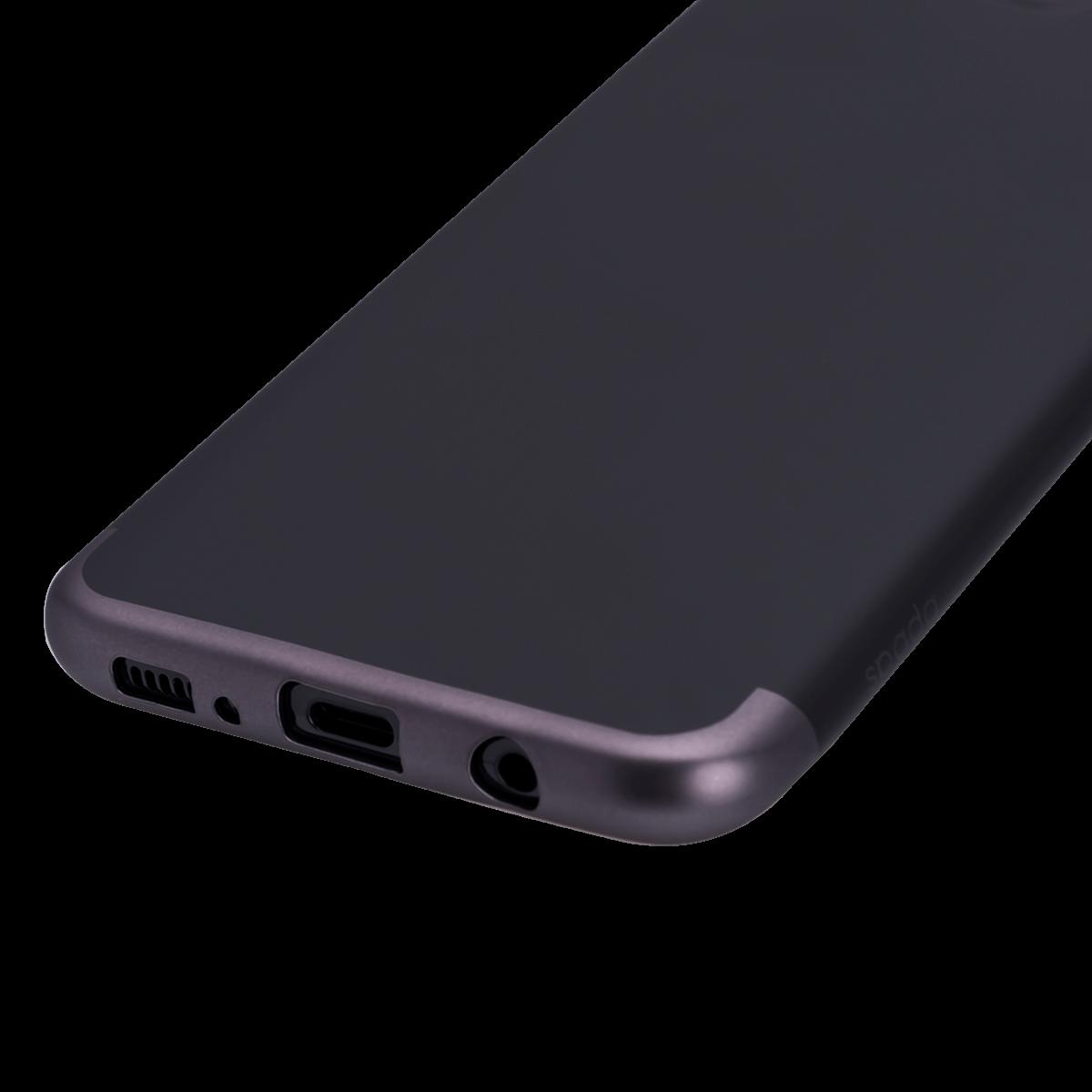 Samsung S8 için spada TRIO Siyah/Siyah TPU Kapak