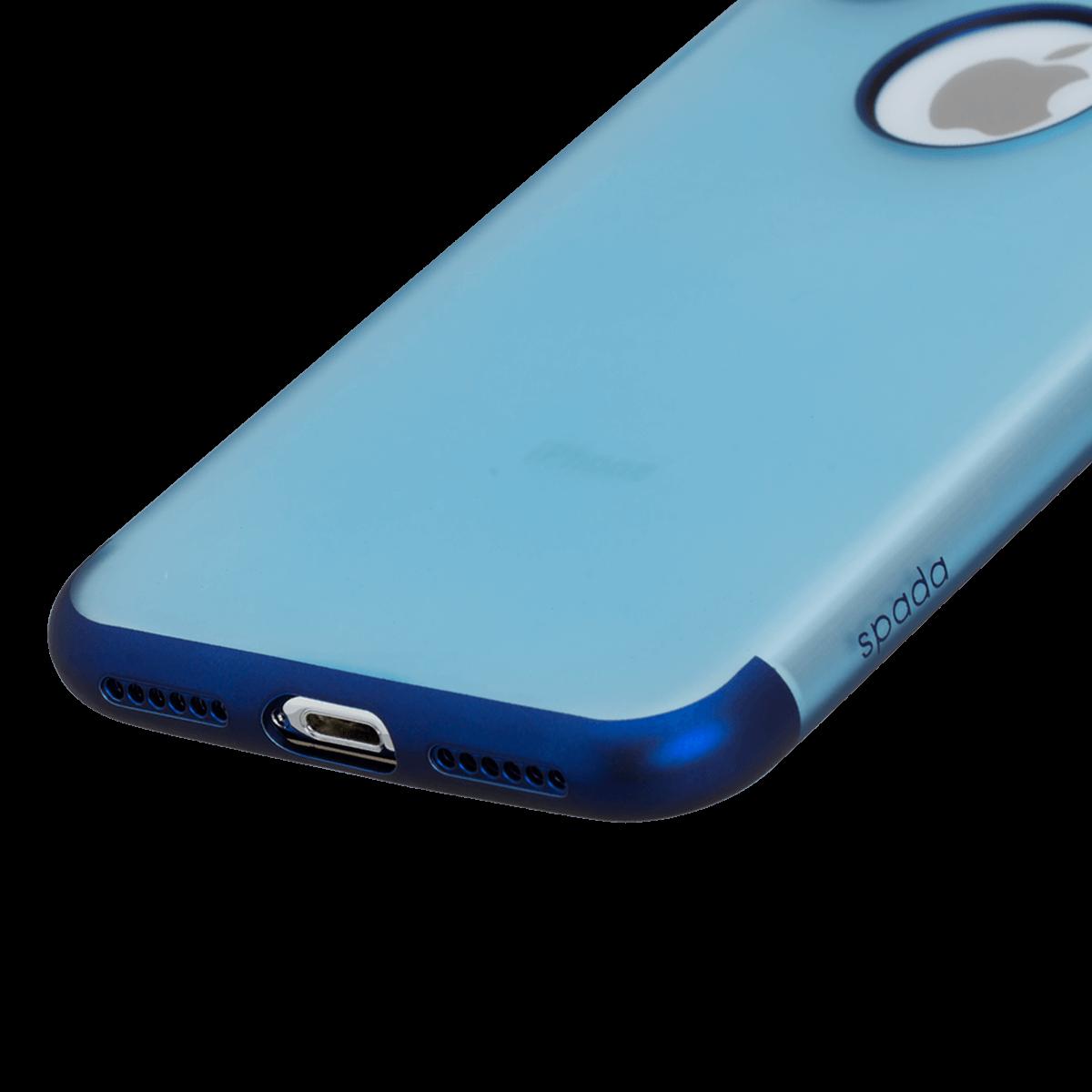 iPhone X/XS için spada TRIO Şeffaf Mavi TPU Kapak