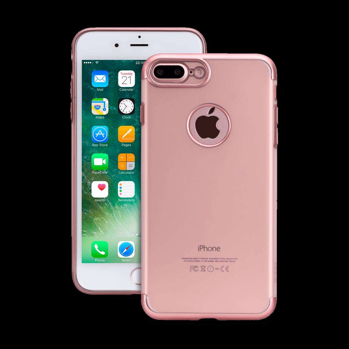 iPhone 7/8 Plus için spada TRIO Seffaf Rose Gold TPU Kapak
