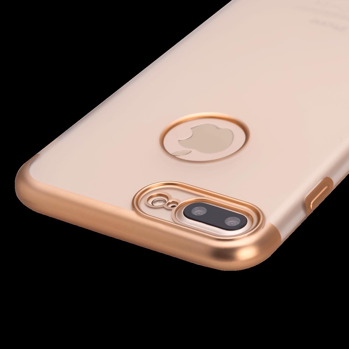 iPhone 7/8 Plus için spada TRIO Seffaf Gold TPU Kapak