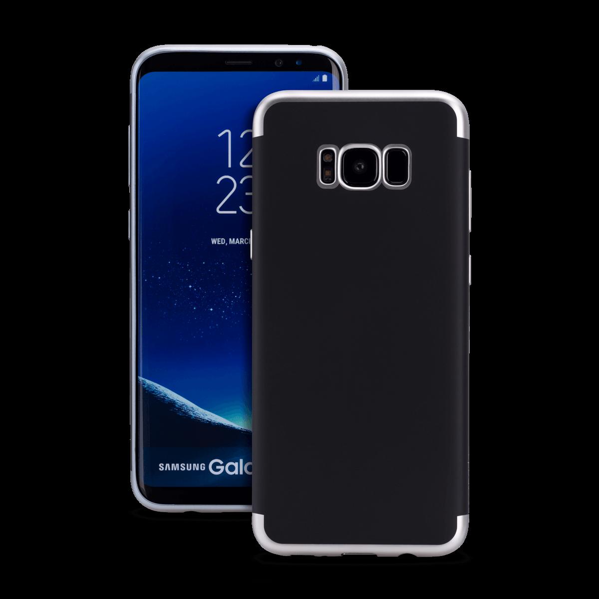 Samsung S8 Plus için spada TRIO Siyah/Gümüş TPU Kapak