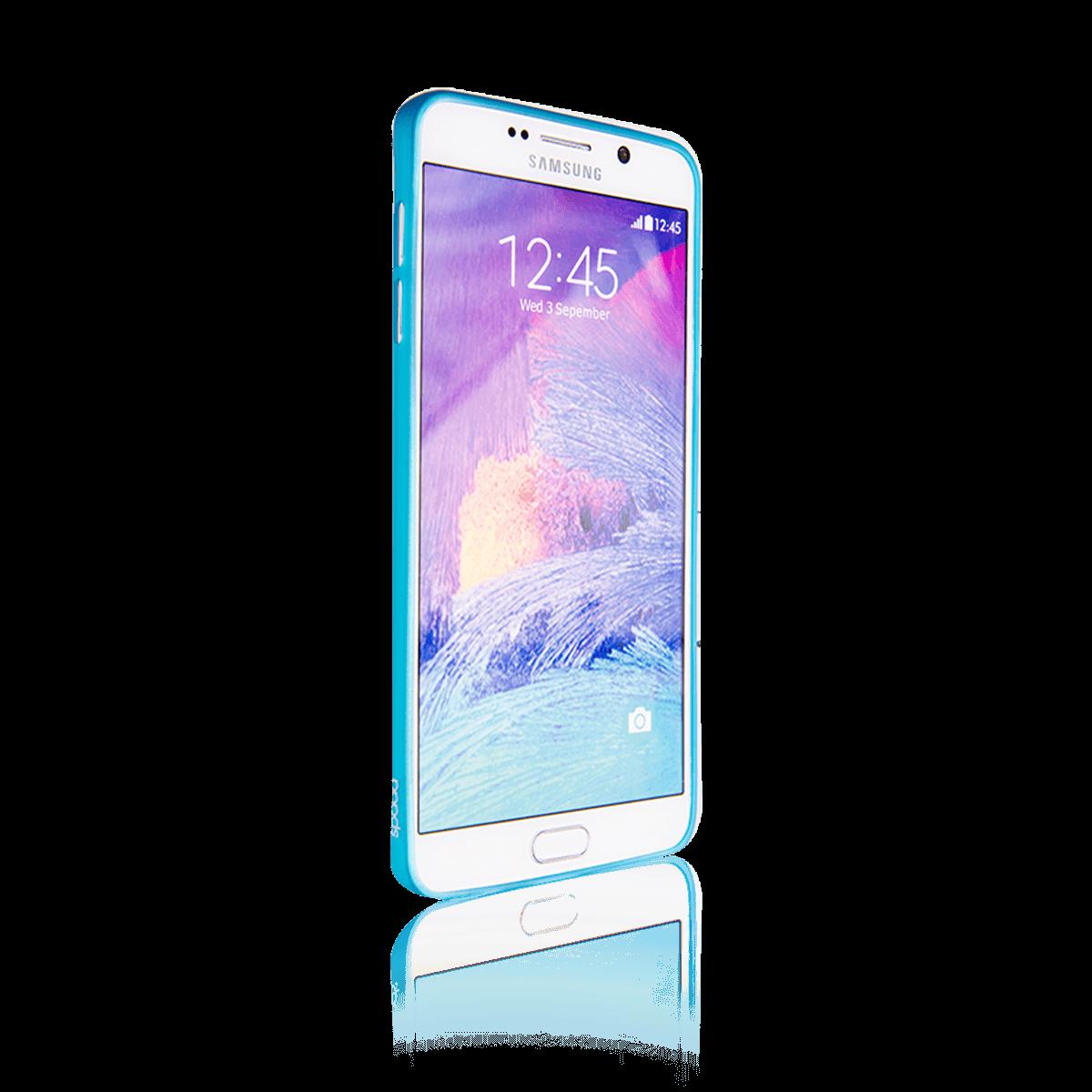 Samsung Note 5 için spada Ultra ince TPU Mavi renk Kapak