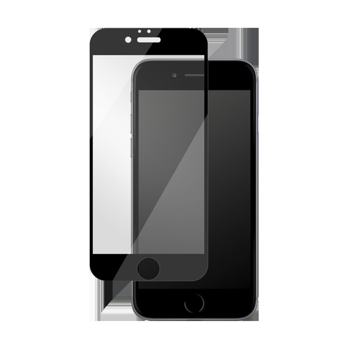 iPhone 7/8 Plus için spada Mat Tam kaplayan Siyah Ekran koruma camı