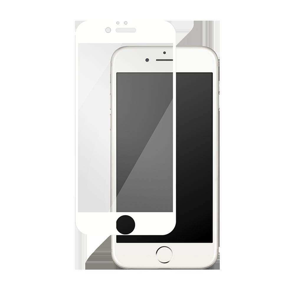 iPhone 7/8 Plus için spada Mat Tam kaplayan Beyaz Ekran koruma camı