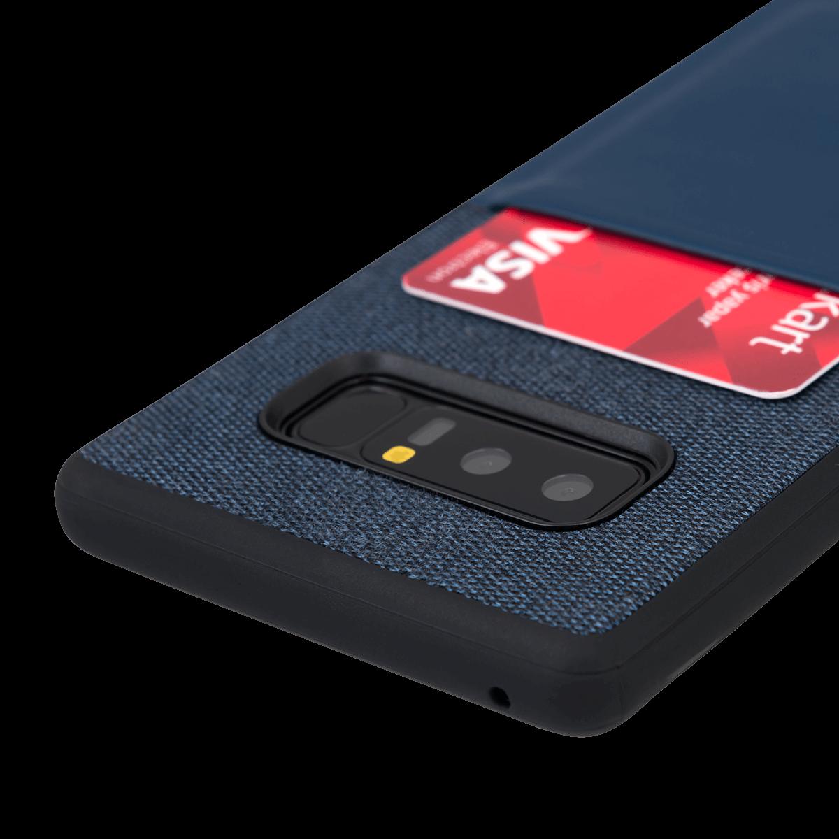 Samsung Note 8 için spada Fashion Pocket Lacivert renkli kapak
