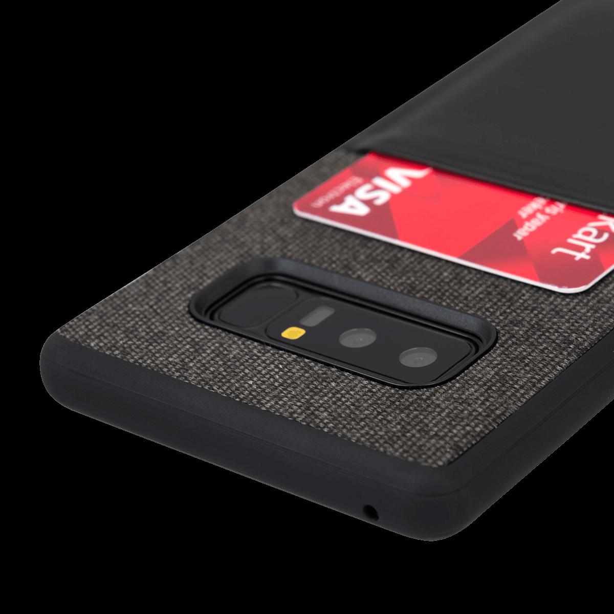 Samsung Note 8 için spada Fashion Pocket Siyah renkli kapak