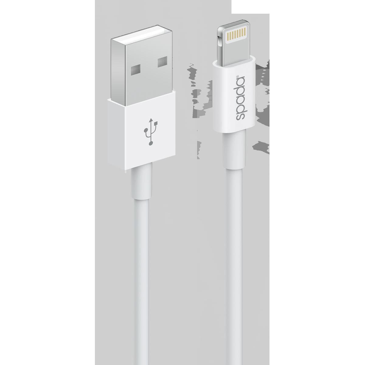 spada Titanium Seri KBL-60WH Lightning 2 metre beyaz kablo