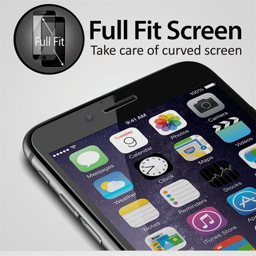 iPhone 7/8 için spada Comfort Tam kaplayan Siyah Ekran koruma camı
