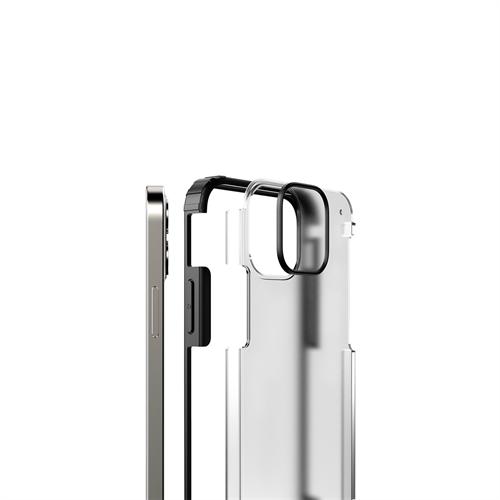 iPhone 12/12 Pro için spada Rugged Siyah kapak