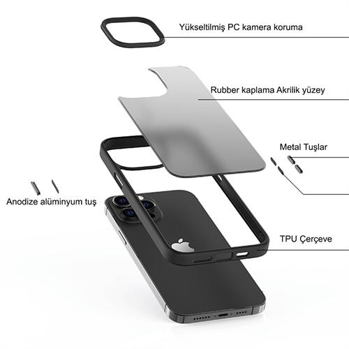 iPhone 13 için spada Panzer Kırmızı Kapak