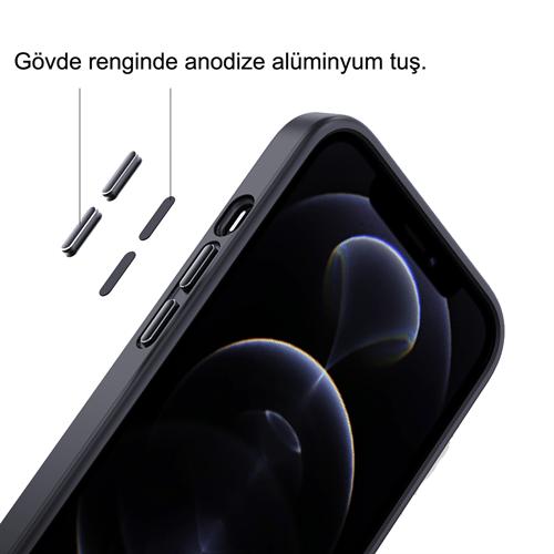iPhone 13 Pro için spada Panzer Siyah kapak