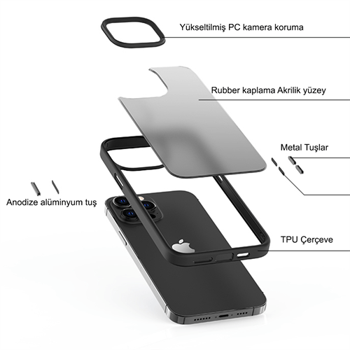 iPhone 13 Pro Max için spada Panzer Kırmızı kapak