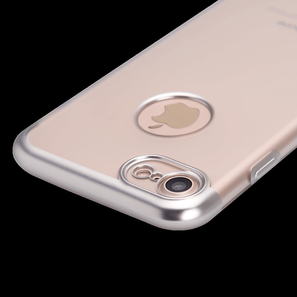 iPhone 7/8 için spada TRIO Seffaf Gümüş TPU Kapak
