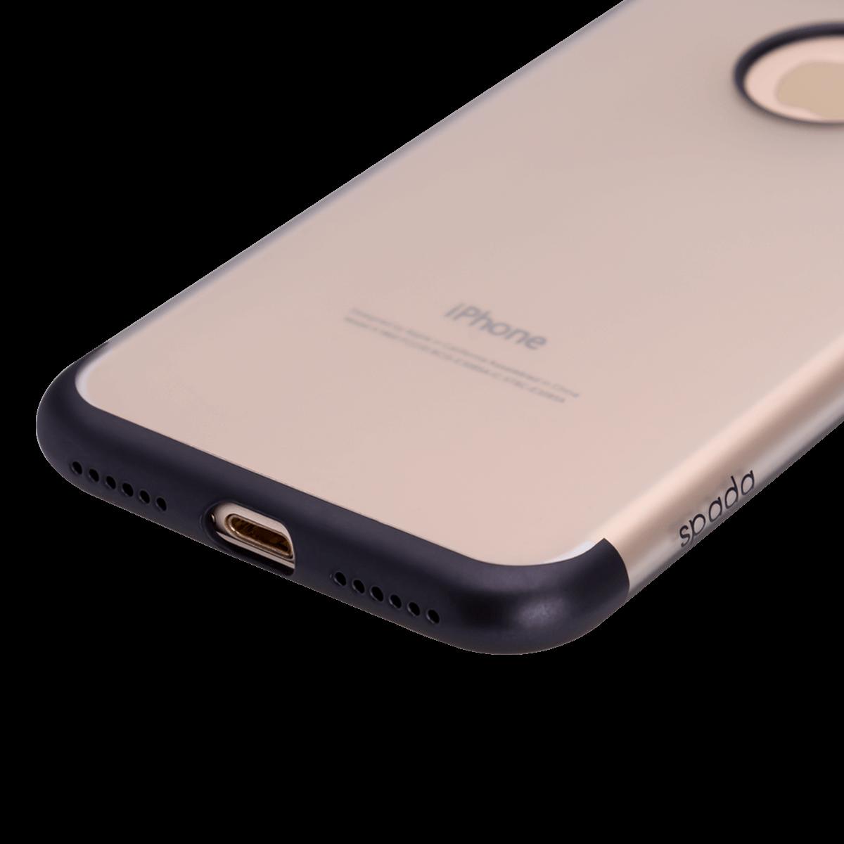 iPhone 7/8 için spada TRIO Seffaf Siyah TPU Kapak