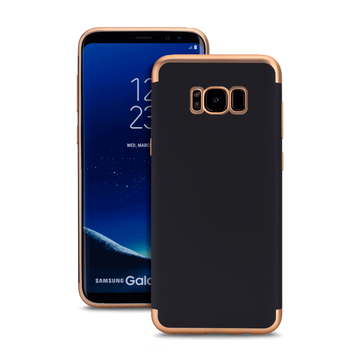 Samsung S8 Plus için spada TRIO Siyah/Gold TPU Kapak