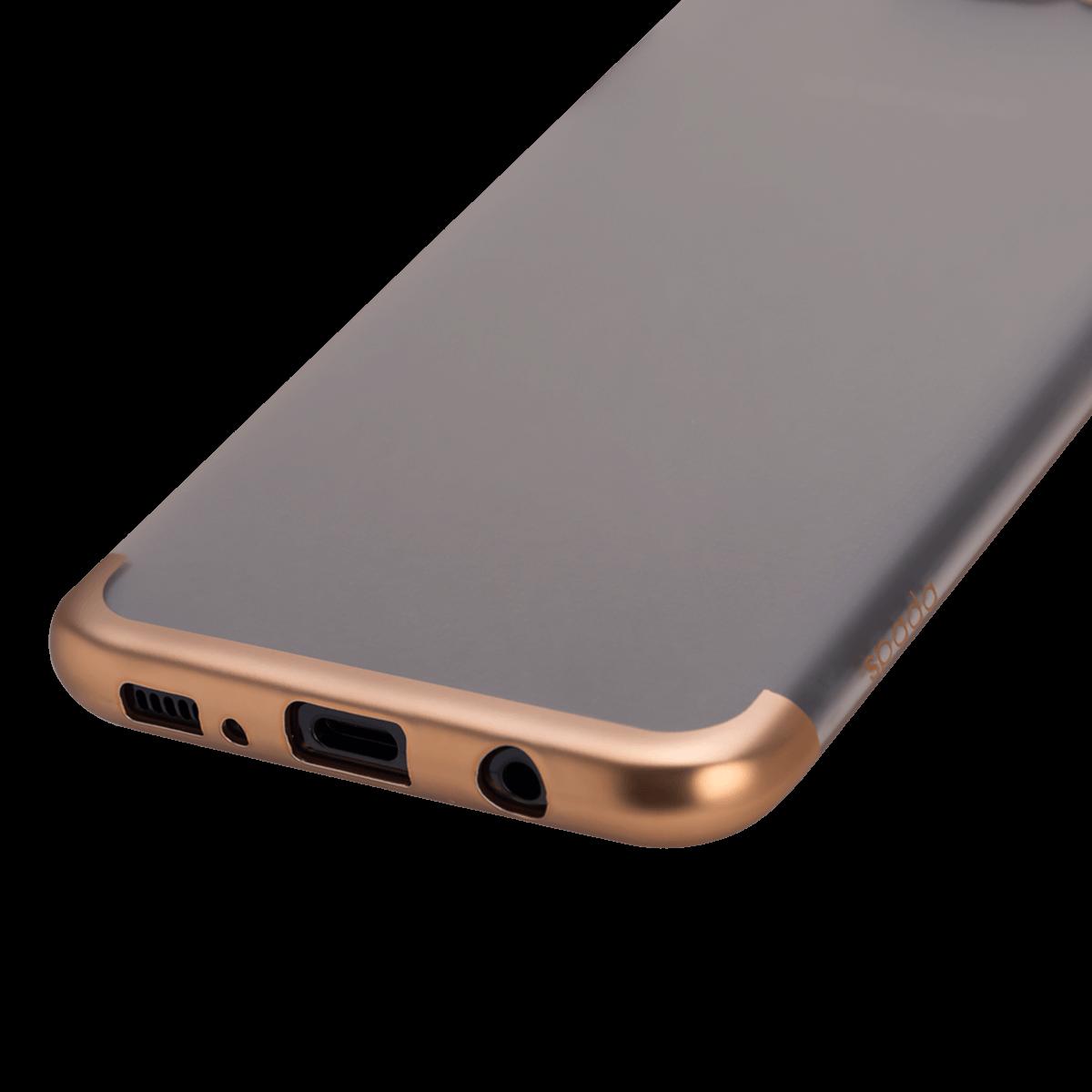 Samsung S8 için spada TRIO Seffaf/Gold TPU Kapak