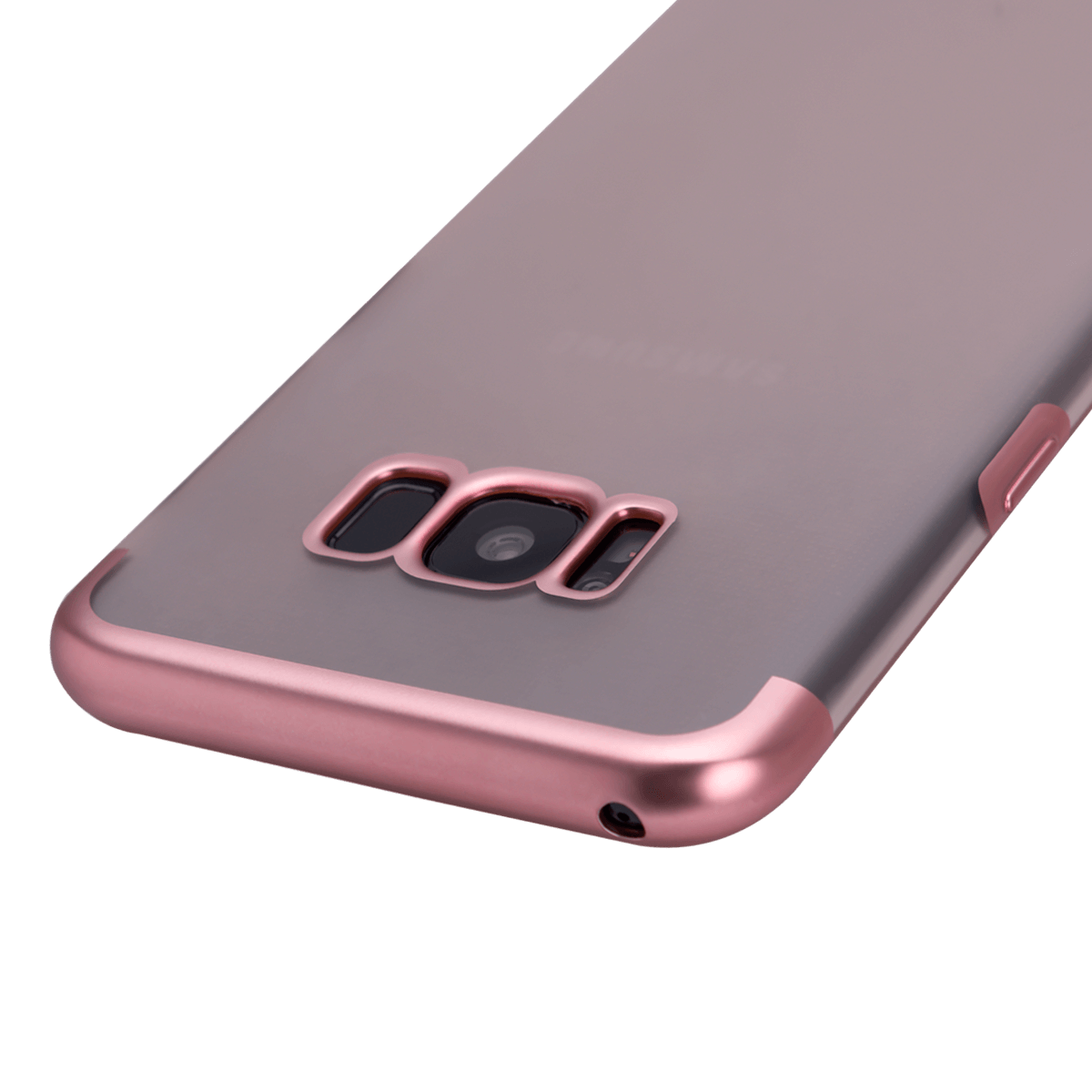 Samsung S8 için spada TRIO Seffaf/Rose Gold TPU Kapak