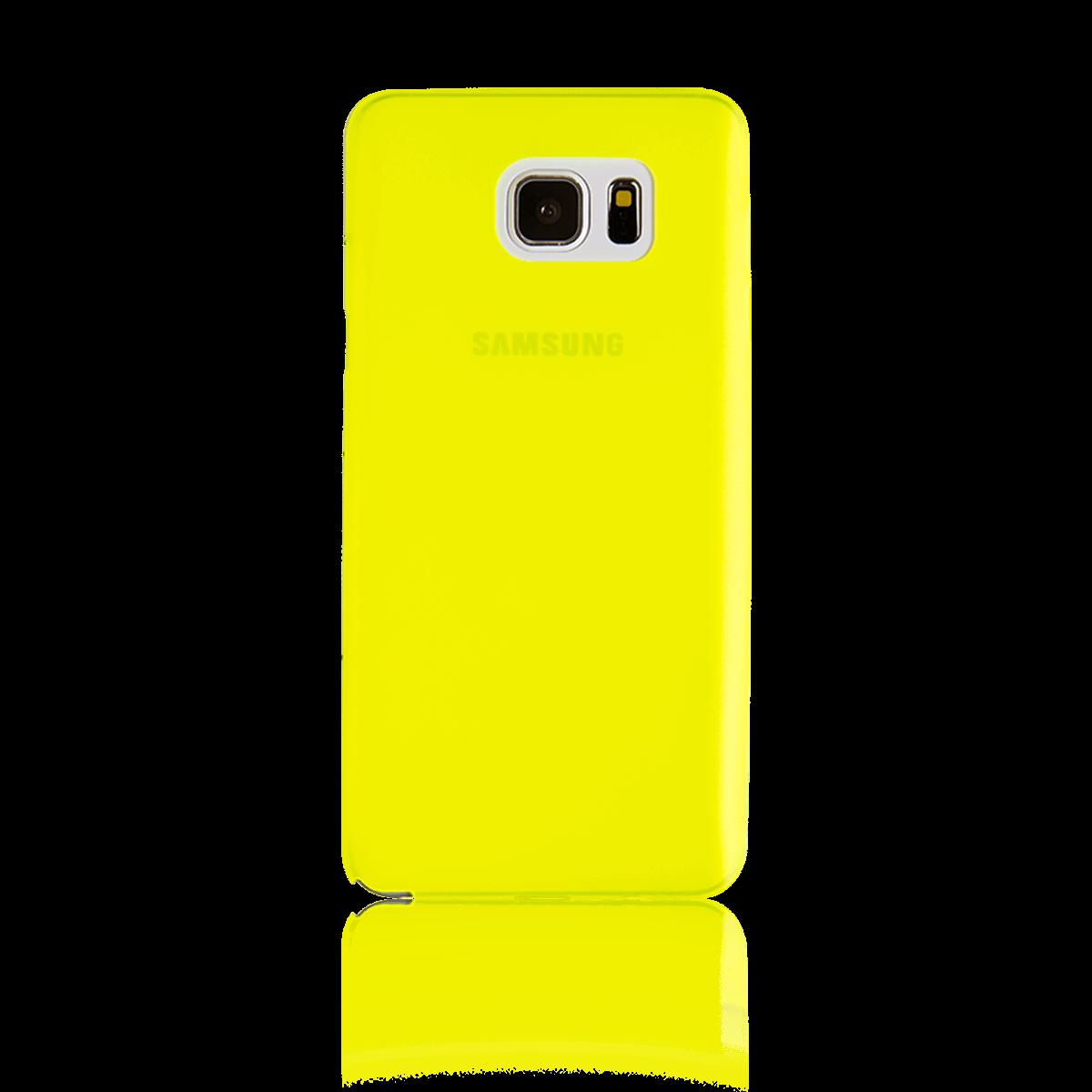 Samsung Note 5 için spada Ultra ince TPU Limon Sarısı rengi Kapak