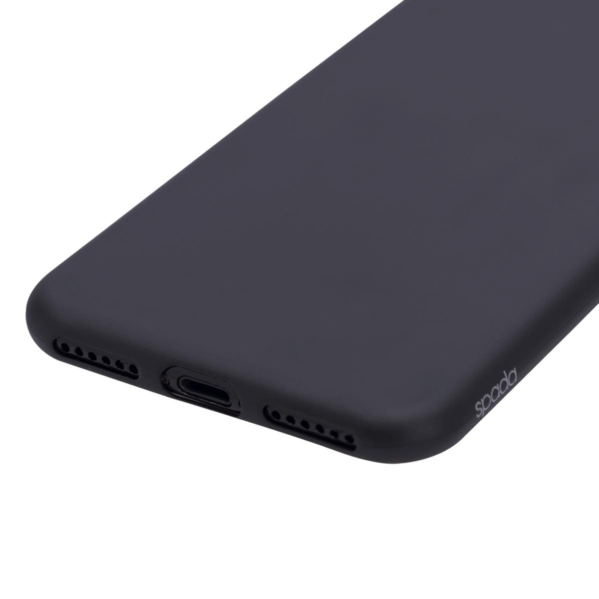 iPhone 7/8/ SE için spada Ultra ince TPU Siyah renk Kapak