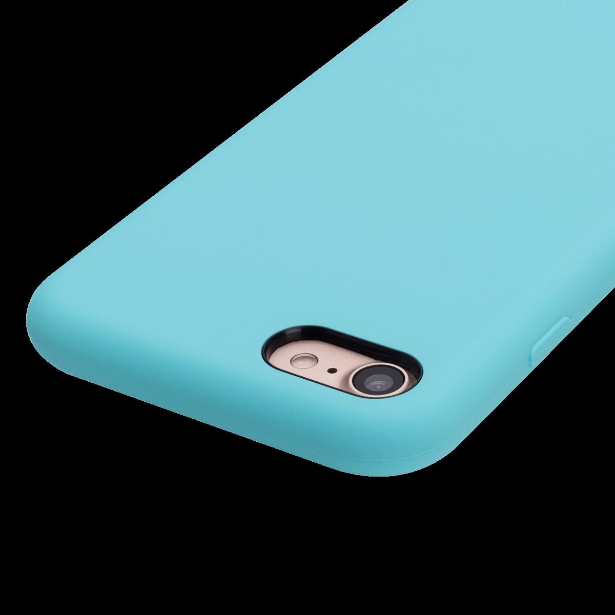 iPhone 7/8 için spada Manyetik Liquid Silikon Yeşil renkli kapak