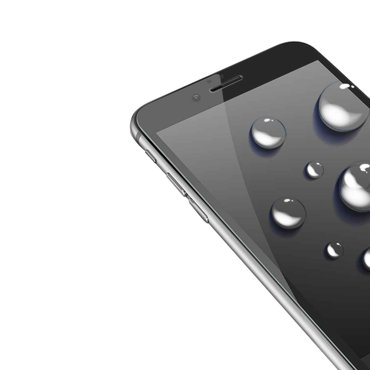 İPhone 6/6S Plus için spada Comfort Tam kaplayan Beyaz Ekran koruma camı