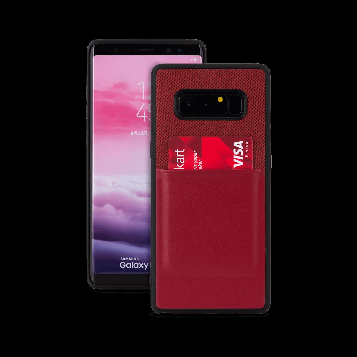 Samsung Note 8 için spada Fashion Pocket Kırmızı renkli kapak