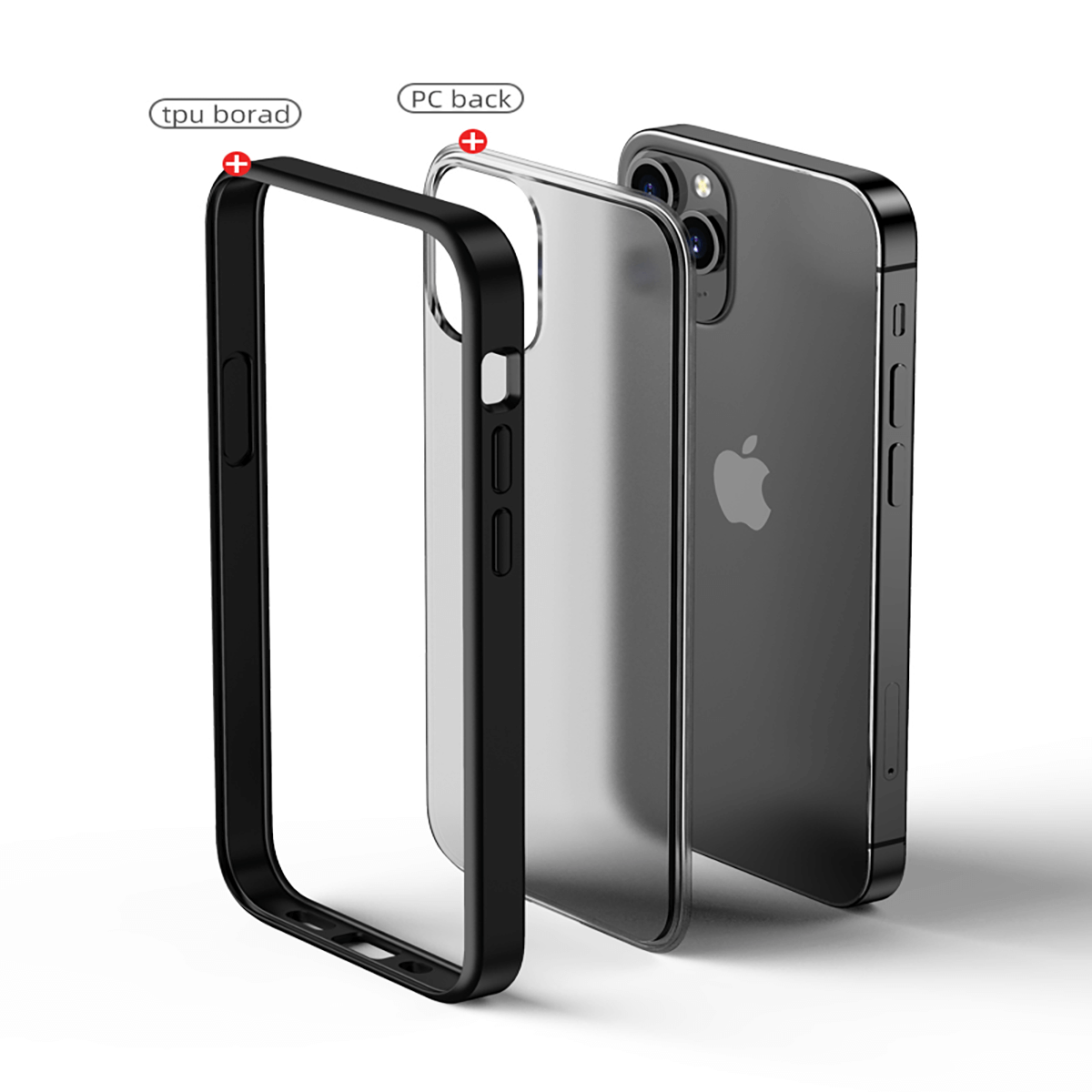 iPhone 12 Mini için spada Shadow Kırmızı kapak